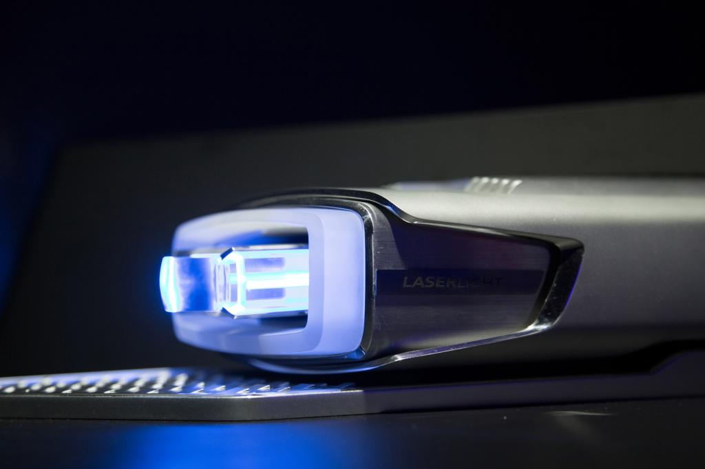 Der neuste Höhepunkt der Lichttechnik: ein Lasermodul von Audi