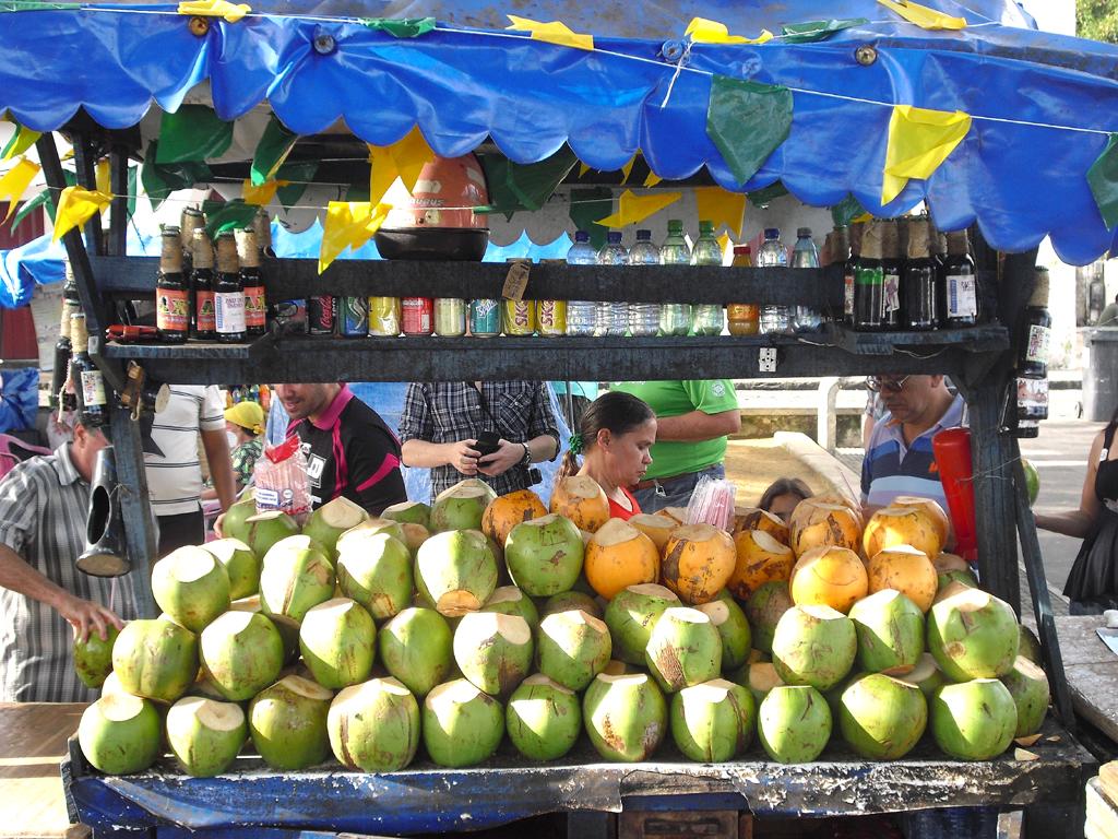 Erfrischend: Kokosnuss-Stand in der Weltkulturerbe-Stadt.