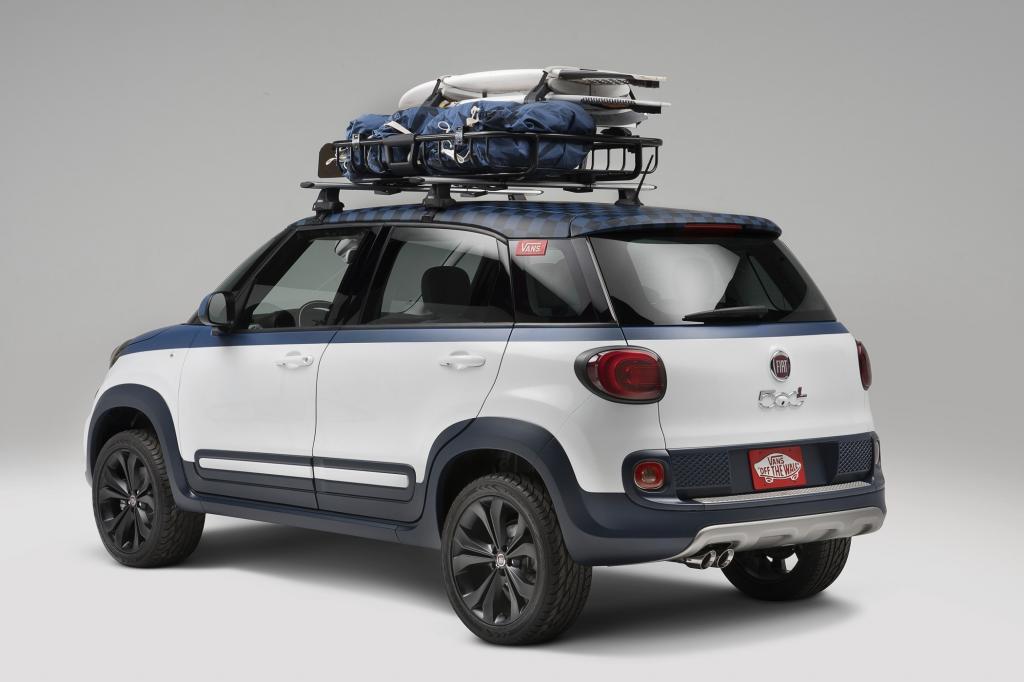 Fiat stellt den 500L als Konzeptfahrzeug Vans im Surfer-Stil vor.