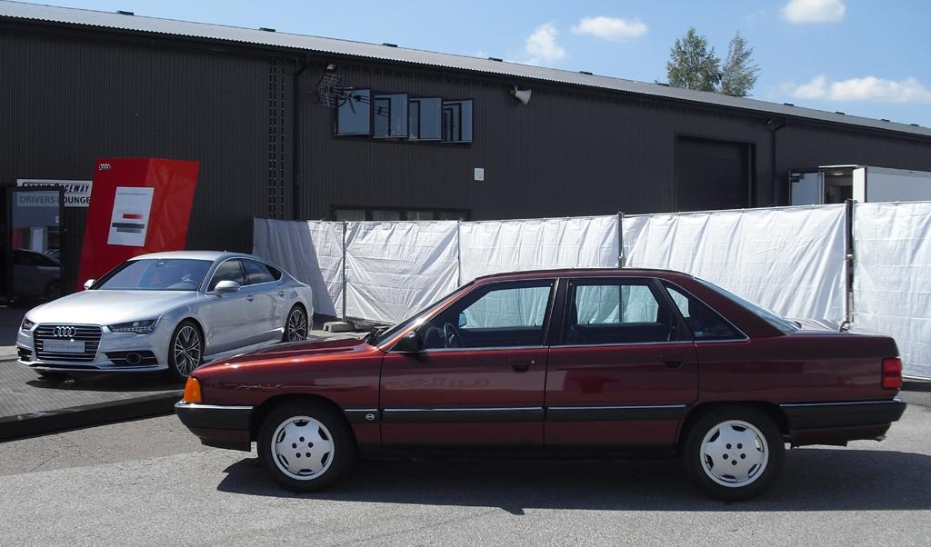 Frher und heute: Audi 100 TDI (rechts), Audi A7 Sportback TDI