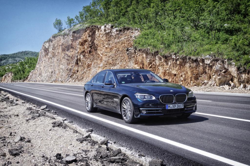Mit dem BMW 7er auf Europatour.