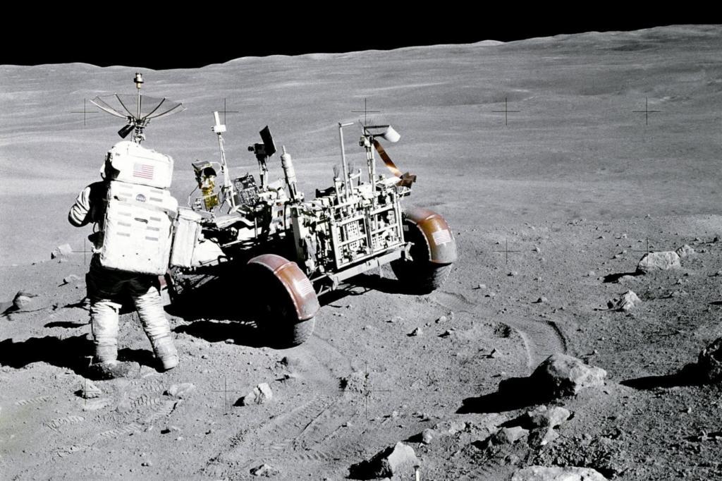Parkraum gibt es auf dem Mond im Übermaß