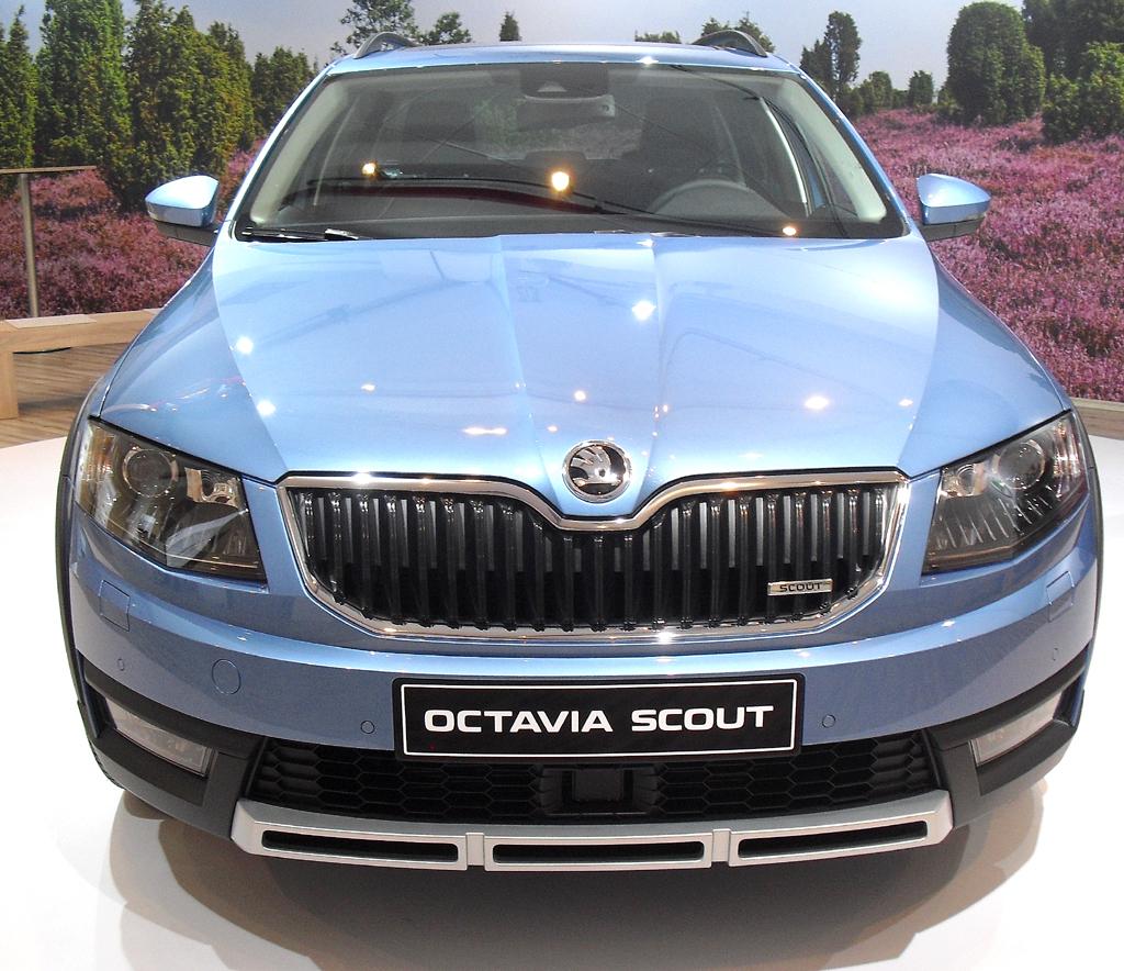 Skoda Octavia Scout: Blick auf die Frontpartie.