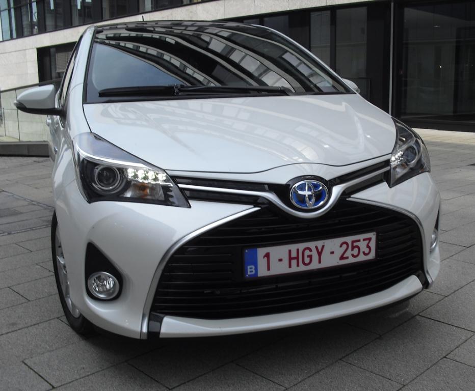 Toyota Yaris: Blick auf die Frontpartie.