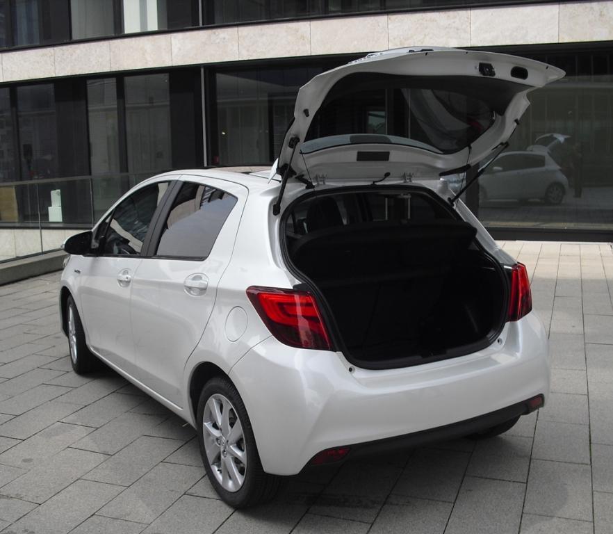 Toyota Yaris: Das Gepckabteil fasst 286 bis 768 Liter.