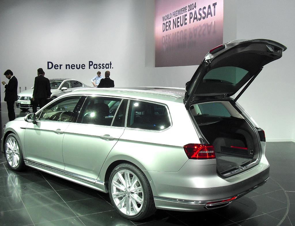 VW Passat: Das Variant-Gepäckabteil fasst jetzt 650 bis 1780 Liter.