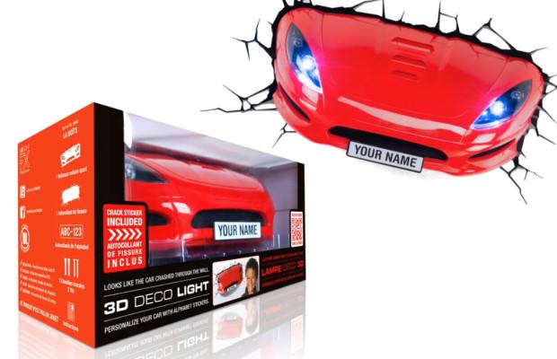 auto.de-Gewinnspiel: 3D Sportauto Lampe von MegaGadgets