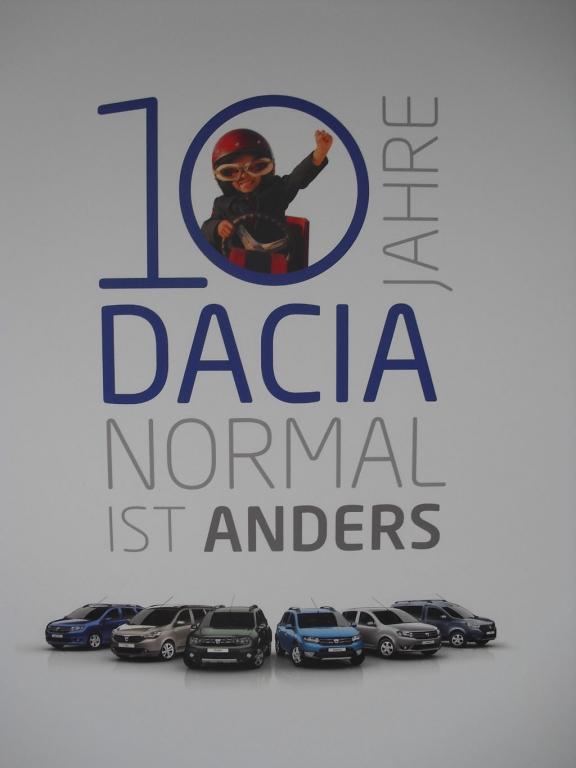 """2014 feiert die rumänische Renault-Tochter das Jubiläum """"Zehn Jahre Dacia""""."""
