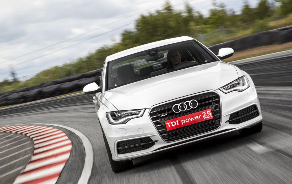 Auf der Strecke: Audi A6 TDI Concept.