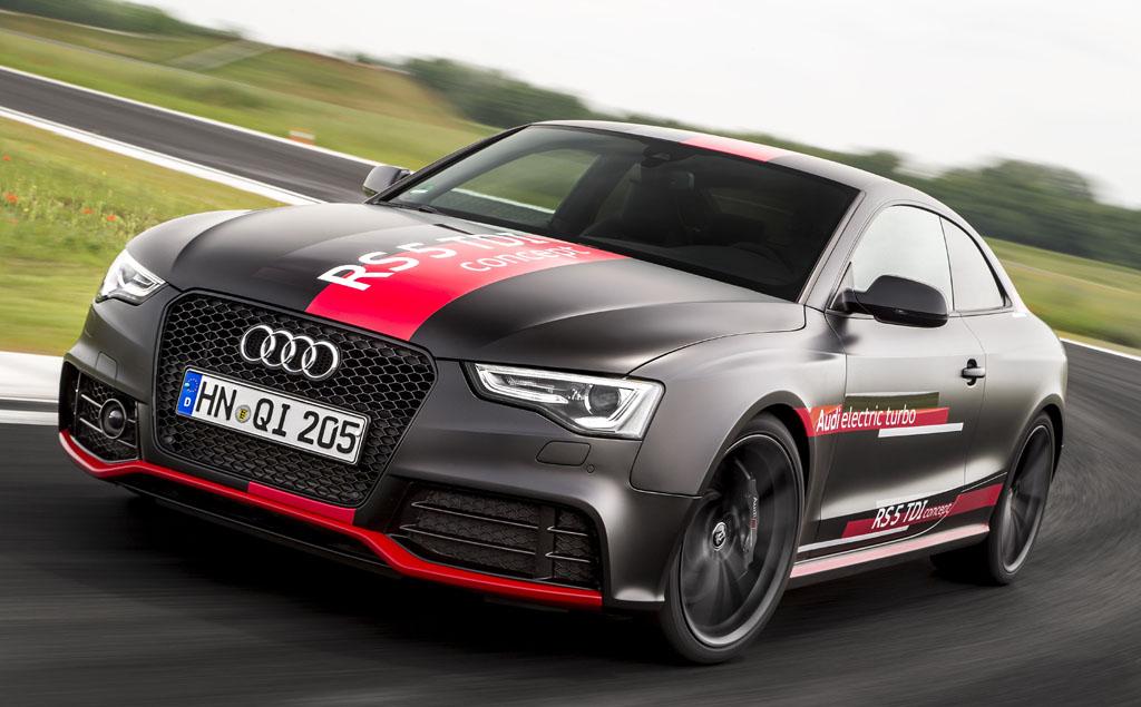 Auf der Strecke: Audi RS5 TDI Concept.