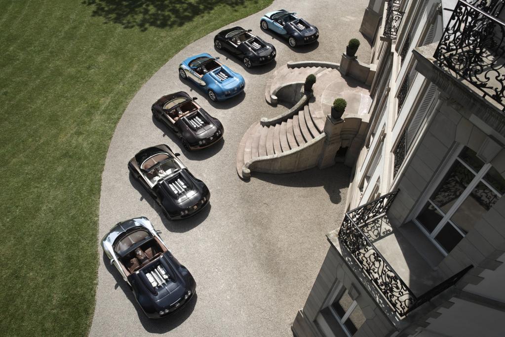 Bugatti zeigt sechs rollende Legenden