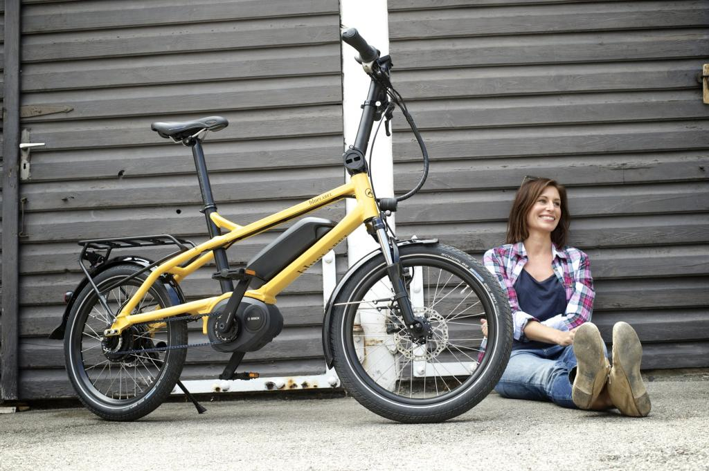 Das kompakte Stadtrad Pony von Riese und Müller zielt auf Cityradler