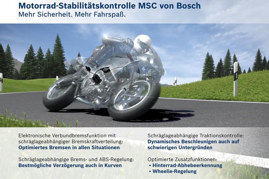 Den ermutigenden Rückgang der tödlichen Motorradunfälle zwischen 2008 und 2013 um 13 Prozent führen Experten auch auf die zunehmende Verbreitung von ABS zurück.