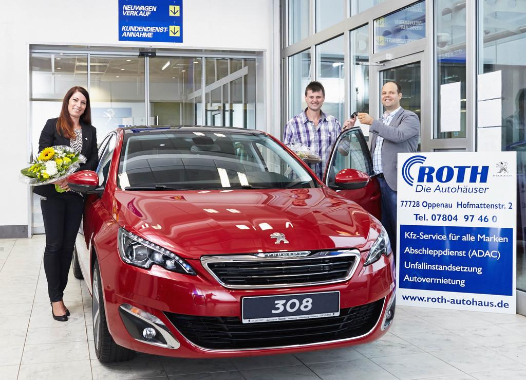 Der 100 000ste Peugeot 308 geht nach Deutschland