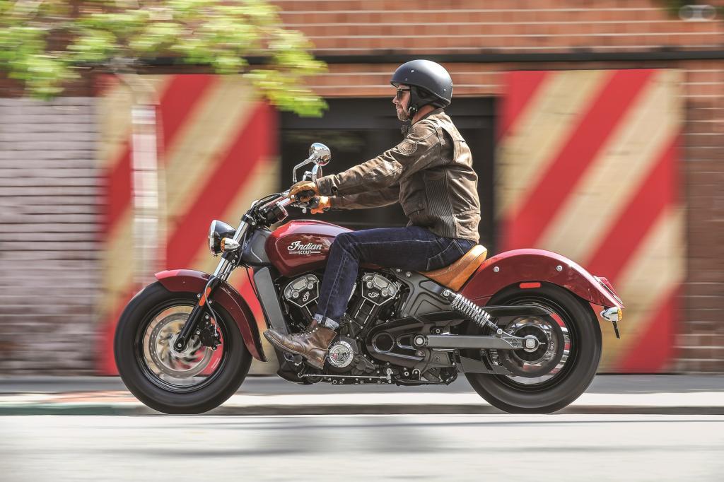 """Die 2011 wieder gegründete Motorradmarke Indian weitet mit der Präsentation der neuen """"Scout"""" ab 2015 ihr Modellprogramm aus."""