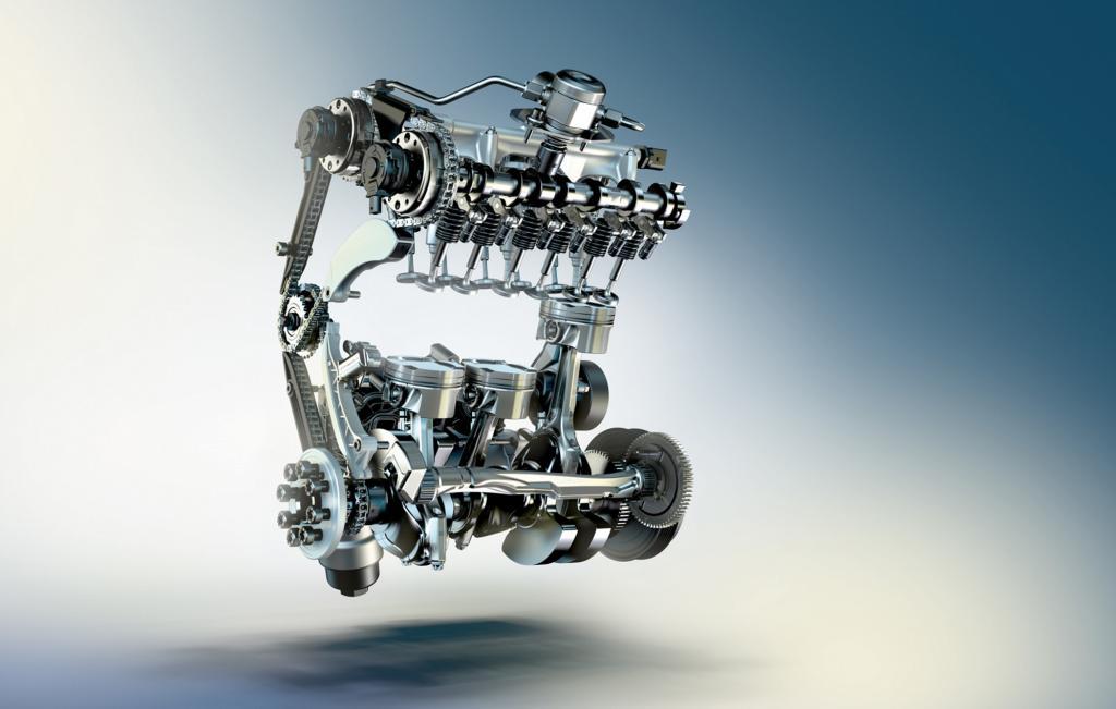Drei solcher 0,5-Liter-Basiszylinder geben einen Dreizylindermotor mit 1,5 Liter Hubraum