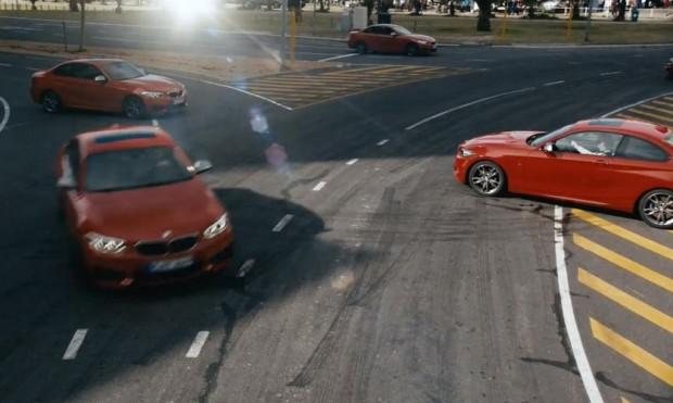 Driftmob mit dem BMW M235i - ein motorisierter Flashmob