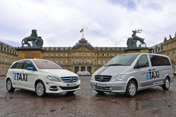 Feldversuch mit Elektro-Taxis in Stuttgart