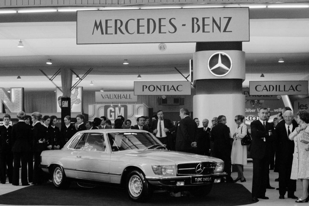 Mercedes-Benz 350SLC Baureihe C107  Premiere Pariser Salon 1971