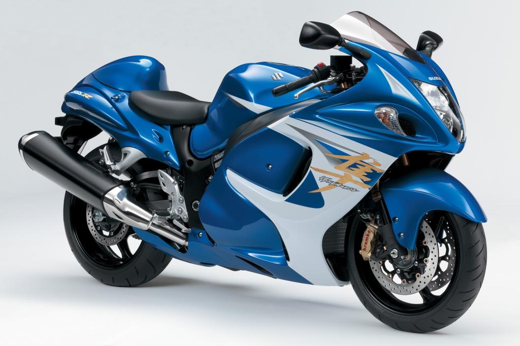 Mit über 300 km/h Höchstgeschwindigkeit löste die Suzuki GSX 1300 R Hayabusa schon 1999 heftige Diskussionen über die Beherrschbarkeit von ultraschnellen Motorrädern aus
