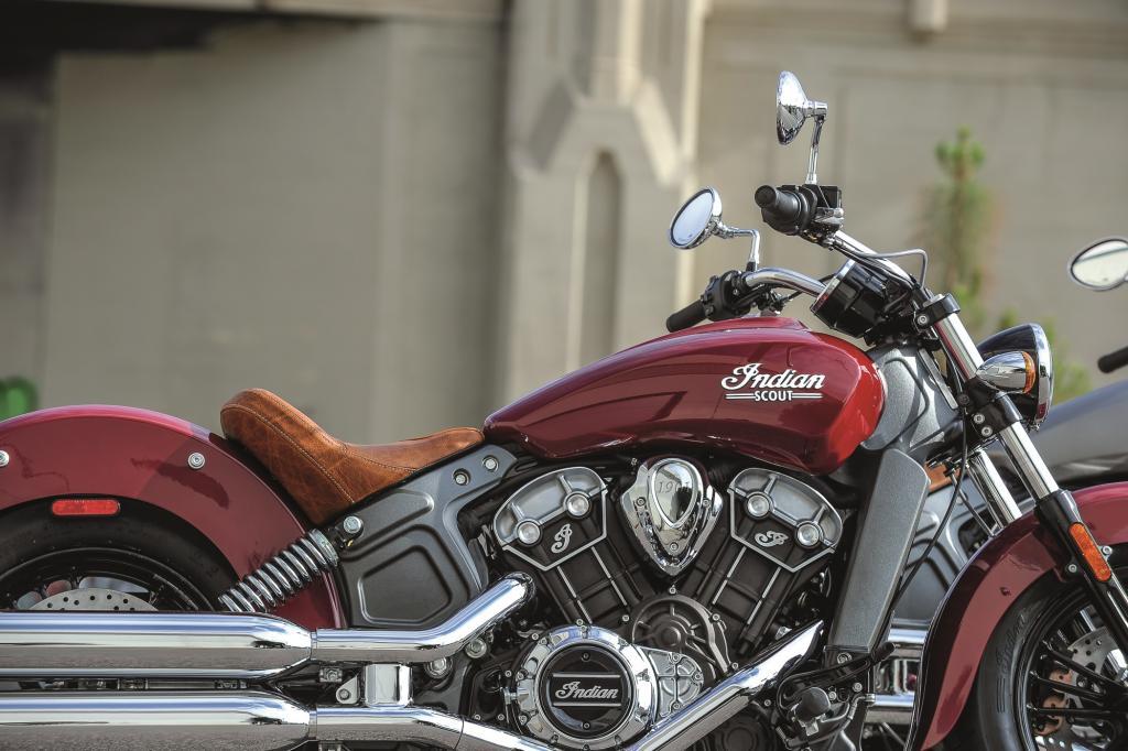 Mit einem Gewicht von nur 255 Kilogramm im fahrbereiten Zustand soll die neue Scout das leichteste Motorrad ihrer Klasse darstellen.