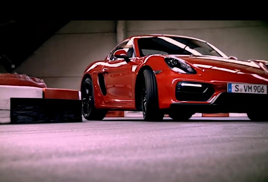 Porsche Cayman GTS auf der Kartbahn!