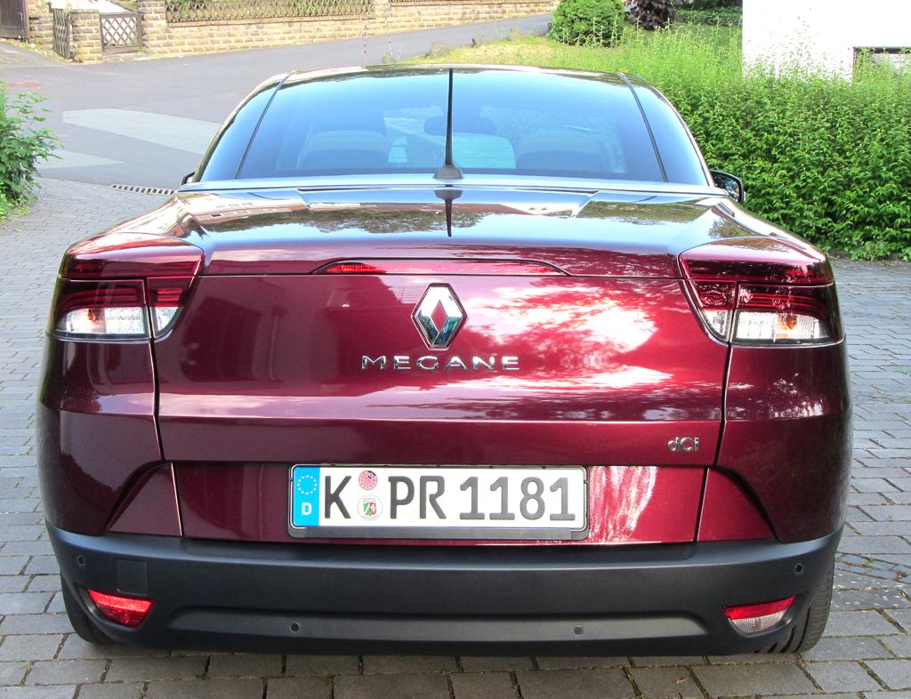 Renault Mégane CC: Blick auf die Heckpartie.