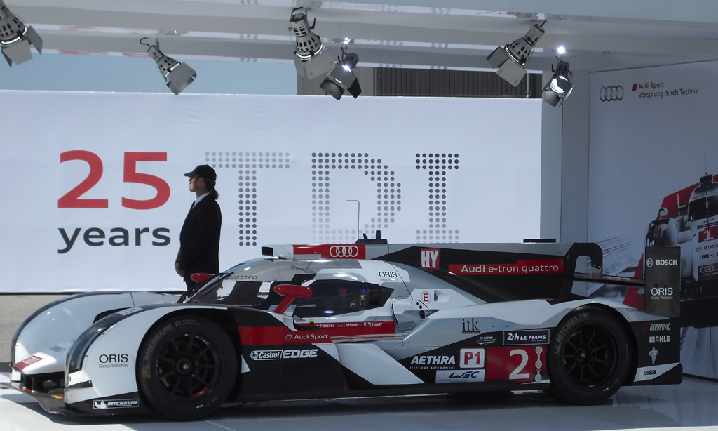Spitzenmotorsport: Audi-Le-Mans-Dieselrenner.
