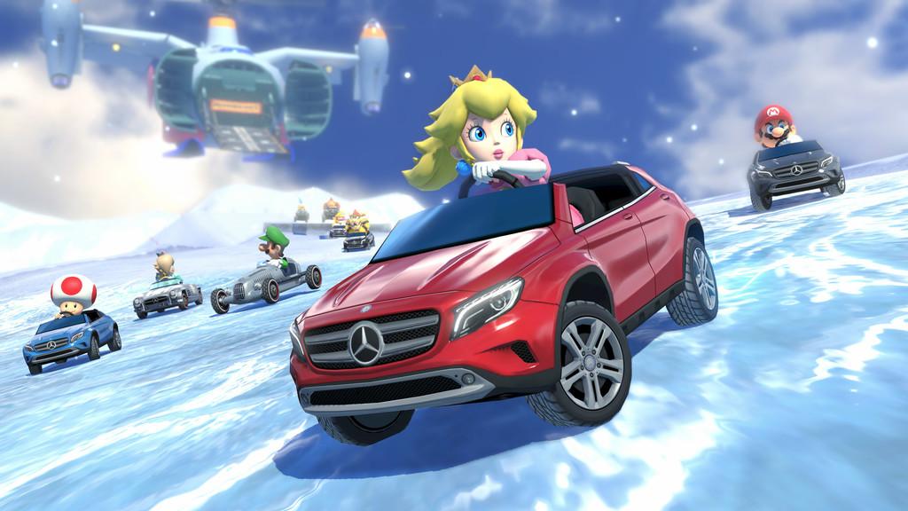 Super Mario fährt Mercedes-Benz