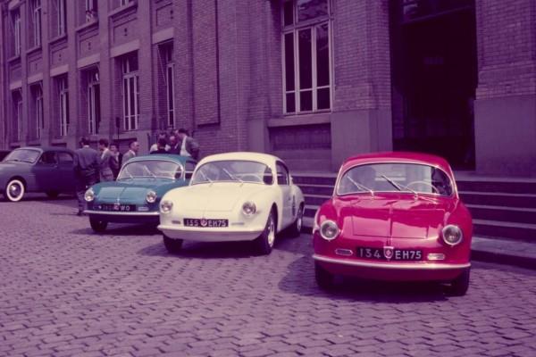 Alpine A106 Premiere bei Renault in Billancourt 1955
