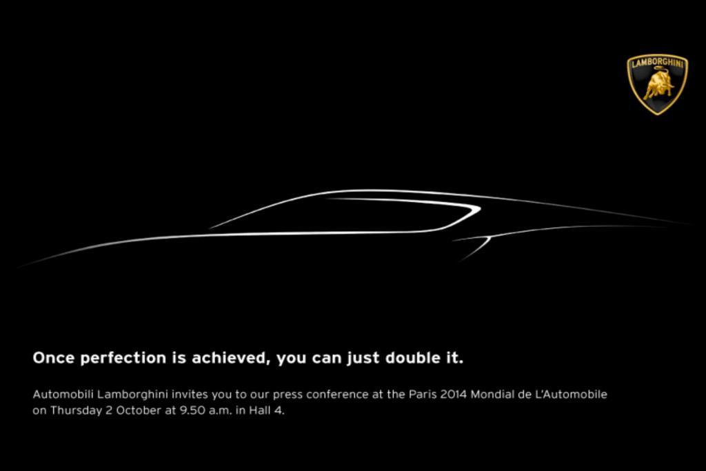 Die dunkle Skizze einer Silhouette ähnelt von der Linienführung dem Aventador, der im März 2011 auf dem Genfer Autosalon als Nachfolger des Murcielago vorgestellt wurde, wirkt jedoch langgestreckter.