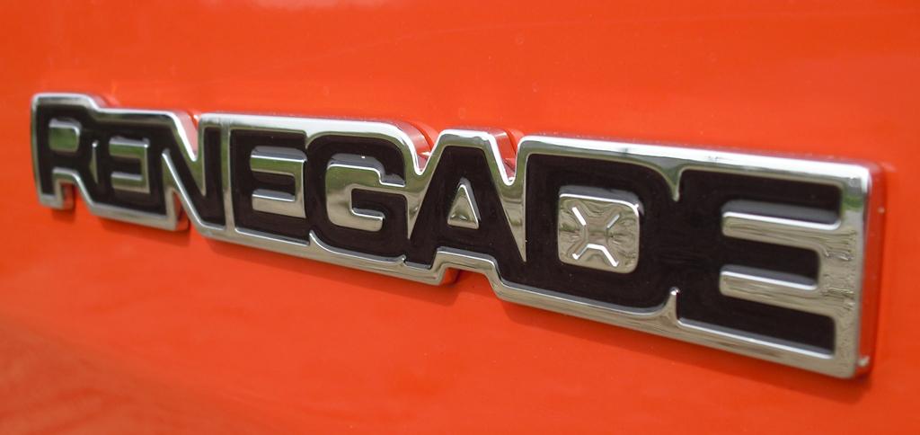 Jeep Renegade: Modellschriftzug an der Seite.