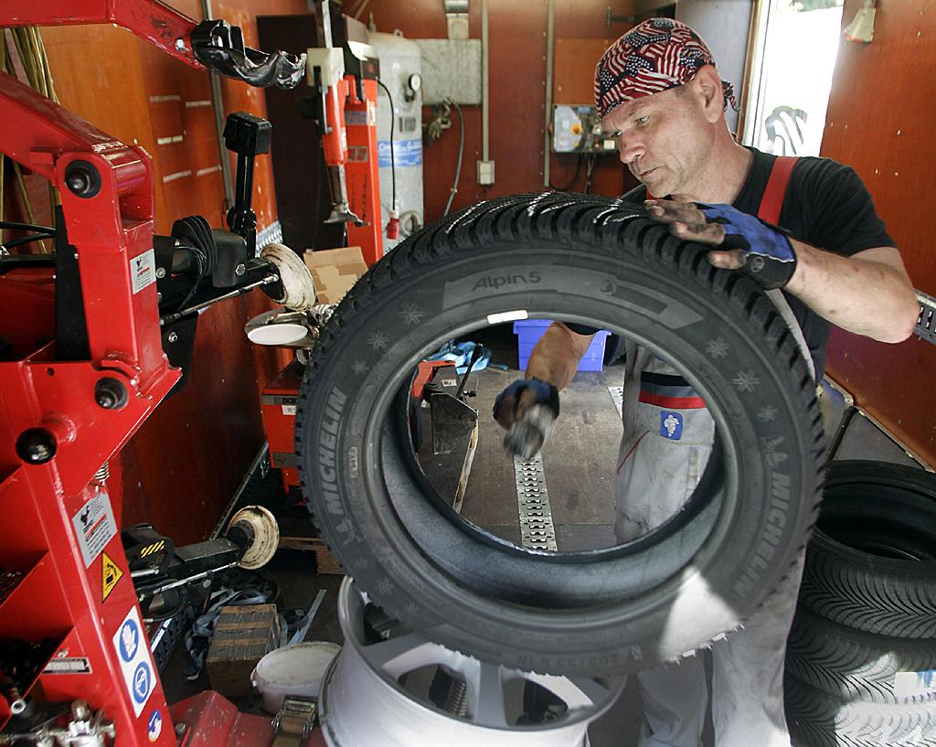 Michelin-Mitarbeiter Tod Kanyon prüft den neuen Alpin 5.