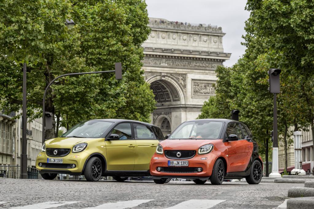 Neue Smarts wollen Paris bezaubern