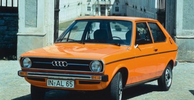 Platz 3: Audi 50 von 1974. Klein kann so schick sein, das mussten die deutschen Autobauer Anfang der 1970er Jahre erst lernen