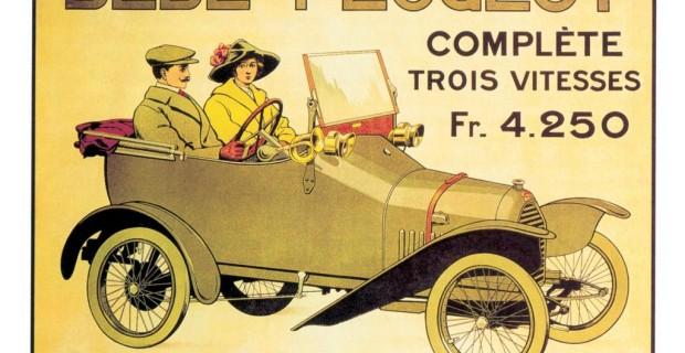 Platz 6: Den Peugeot Bébé von 1913 hatte der legendäre Ettore Bugatti entworfen