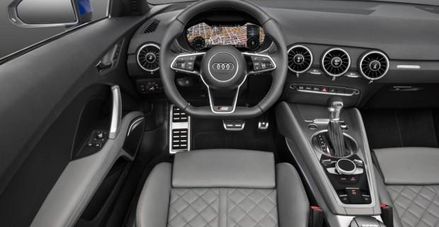 Puristisch und schlank wirkt das neue Interieur vor allem durch einzige Display im Blickfeld des Fahrers. Das digitale, 12,3 Zoll große Kombiinstrument hinter dem Lenkrad fasst Tacho, Drehzahlmesser und Infotainment zusammen