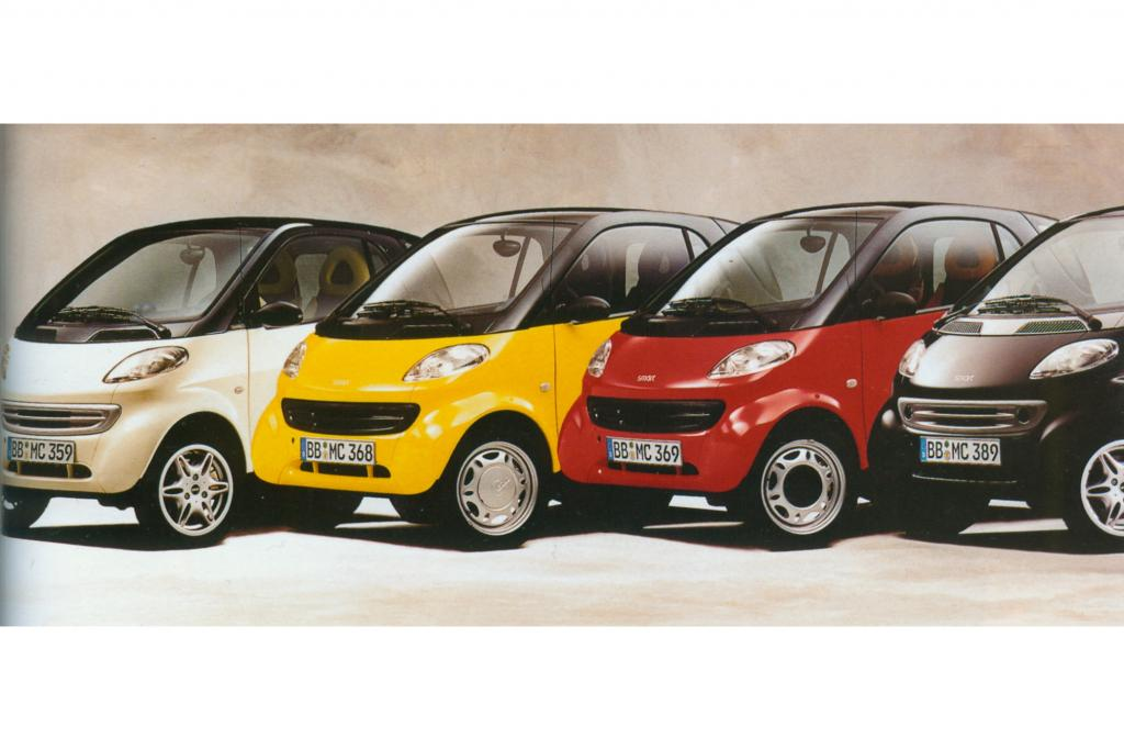 Smart City Coupe mit austauschbaren BodyPanels ab 1998