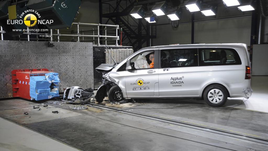 Euro-NCAP-Crashtest: Mercedes-Benz V-Klasse.