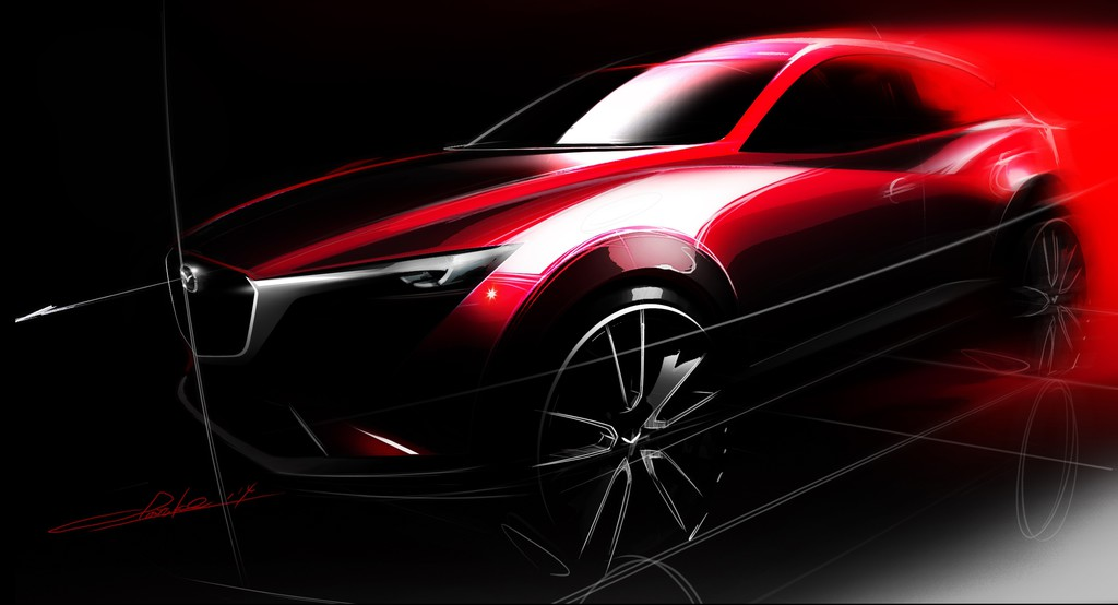 Los Angeles 2014: Mazda zeigt Weltpremiere des CX-3