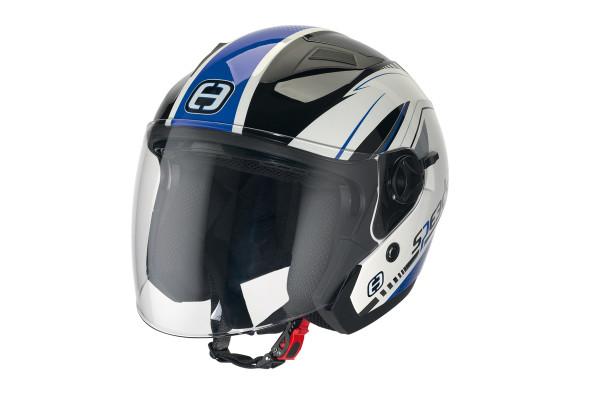 Für Rollerfahrer: Helm mit integriertem Sonnenvisier
