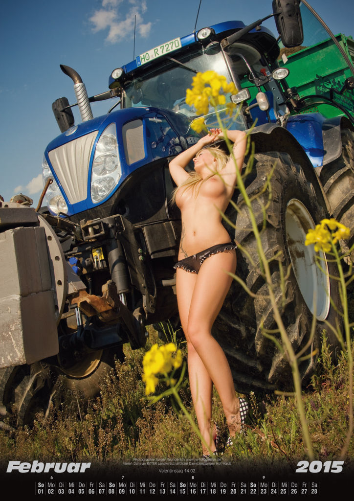 Erotischer Landmaschinenkalender 2015
