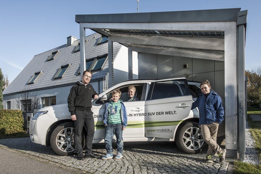 Mitsubishi Plug-in Hybrid Outlander für Nullenergiehaus