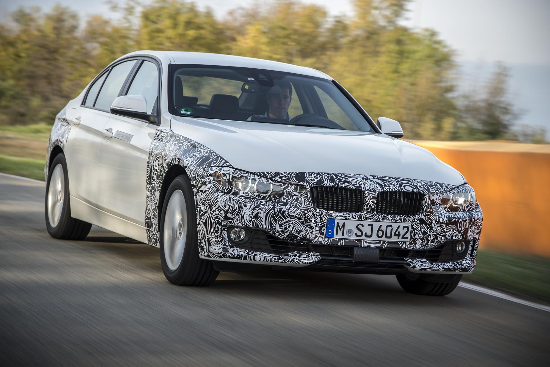 BMW 3er Plug-in-Hybrid Prototyp: Dreier an der Dose