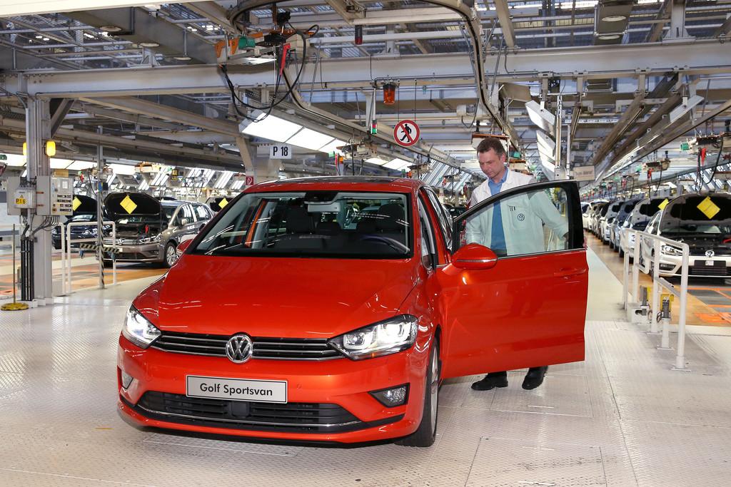 Das einmillionste Fahrzeug der VW-Golf-Baureihe Pl