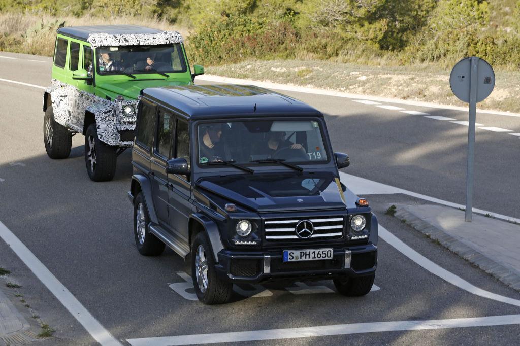 Erwischt: Erlkönig Mercedes-Benz G63 AMG 4x4 - das grüne Monster