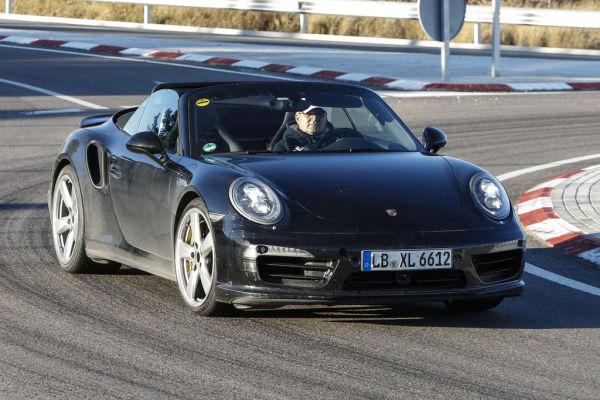 Erwischt: Erlkönig Porsche 911 Turbo Cabrio Facelift