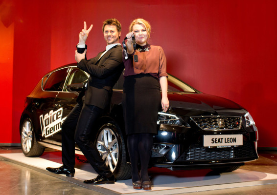 "Seat, Partner von ""The Voice of Germany"", grat"