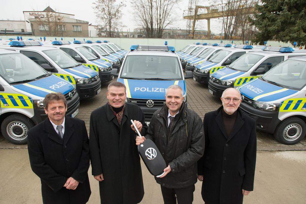 32 VW T5 für die Polizei