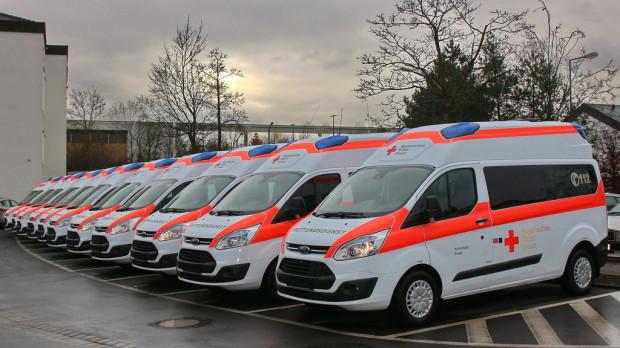 500. Ford Transit für Krankentransport übergeben